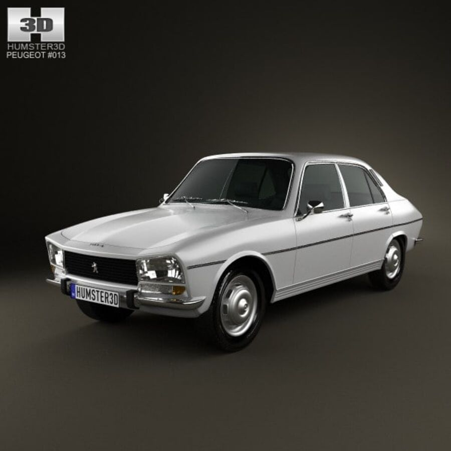 Peugeot 504 Седан 1970 royalty-free 3d model - Preview no. 1