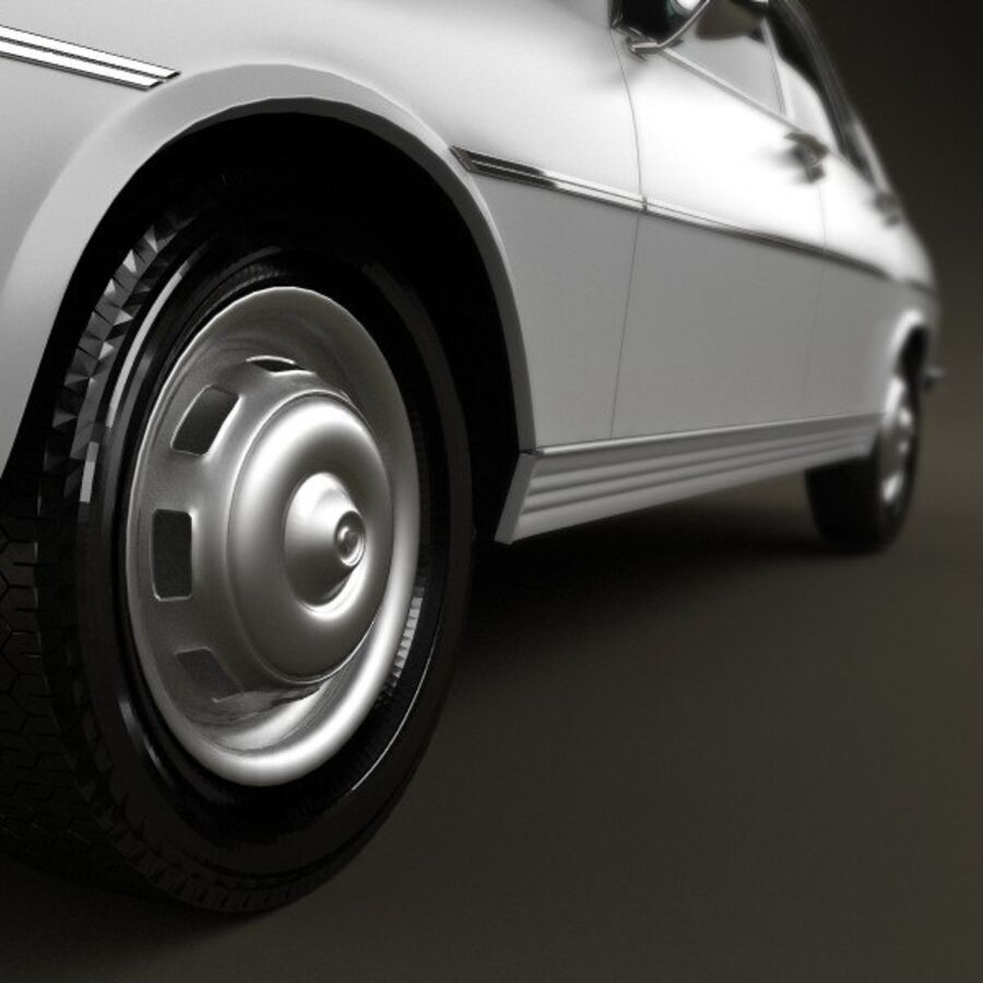 Peugeot 504 Седан 1970 royalty-free 3d model - Preview no. 8