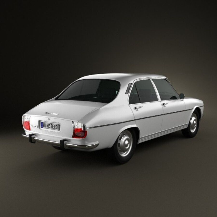 Peugeot 504 Седан 1970 royalty-free 3d model - Preview no. 2