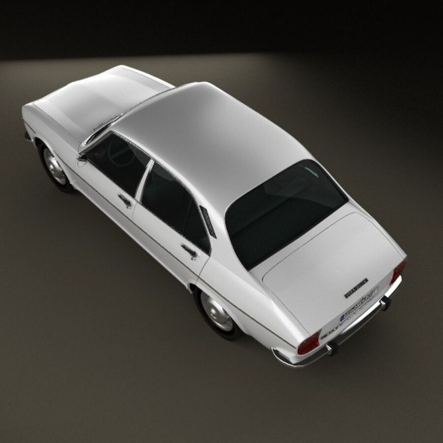 Peugeot 504 Седан 1970 royalty-free 3d model - Preview no. 9