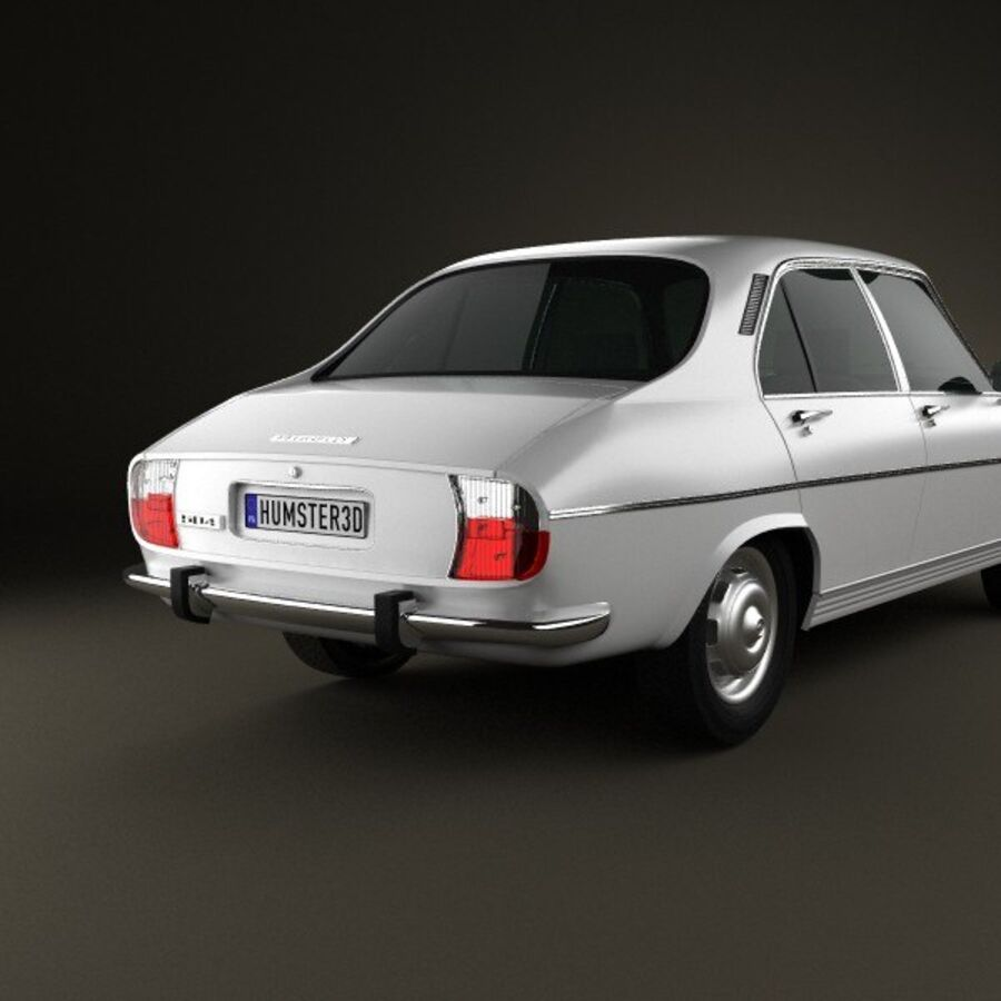 Peugeot 504 Седан 1970 royalty-free 3d model - Preview no. 7
