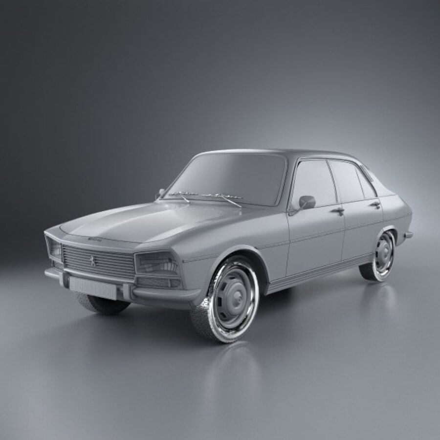 Peugeot 504 Седан 1970 royalty-free 3d model - Preview no. 11