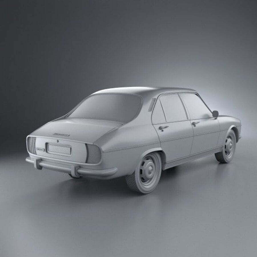 Peugeot 504 Седан 1970 royalty-free 3d model - Preview no. 12