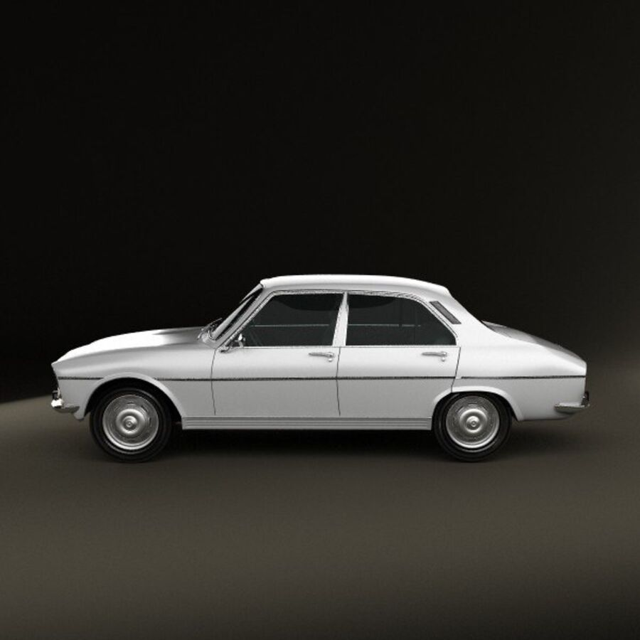 Peugeot 504 Седан 1970 royalty-free 3d model - Preview no. 5