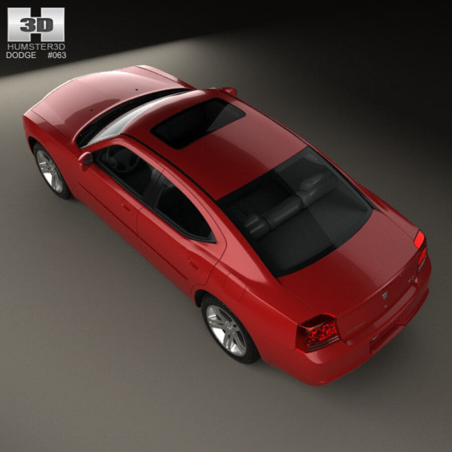 Dodge Charger (LX) 2006 royalty-free 3d model - Preview no. 9