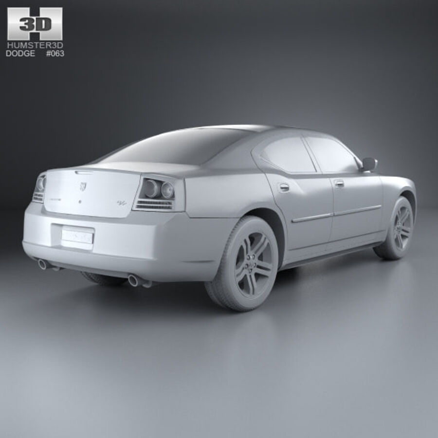 Dodge Charger (LX) 2006 royalty-free 3d model - Preview no. 12