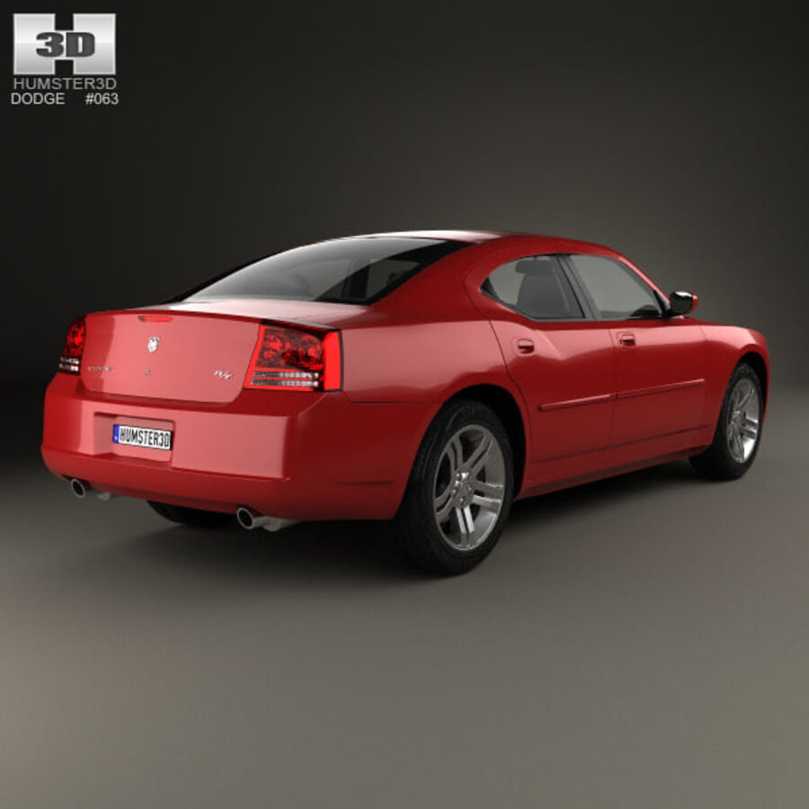 Dodge Charger (LX) 2006 royalty-free 3d model - Preview no. 2