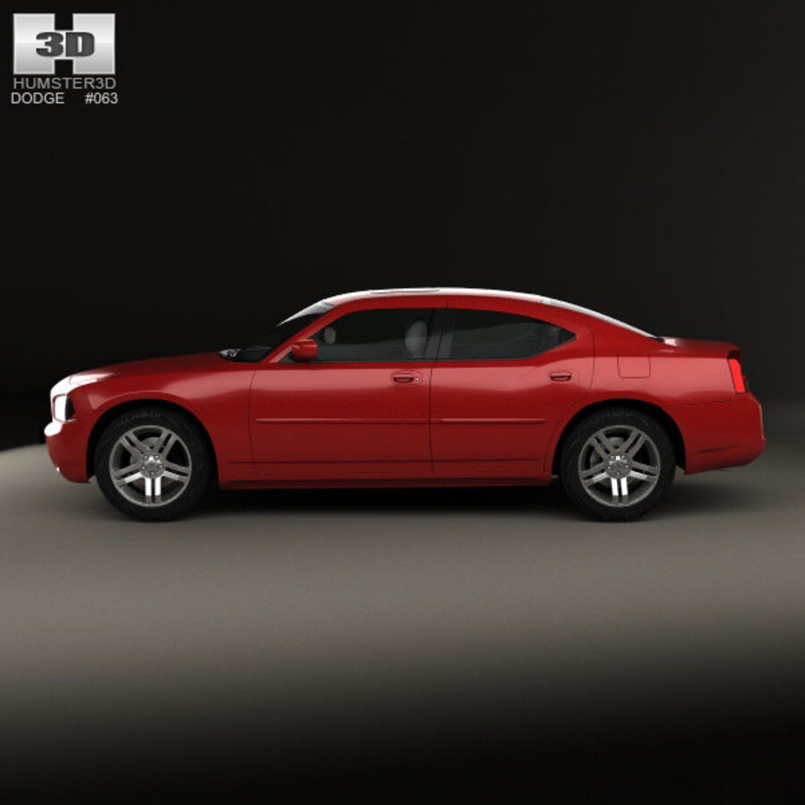 Dodge Charger (LX) 2006 royalty-free 3d model - Preview no. 5