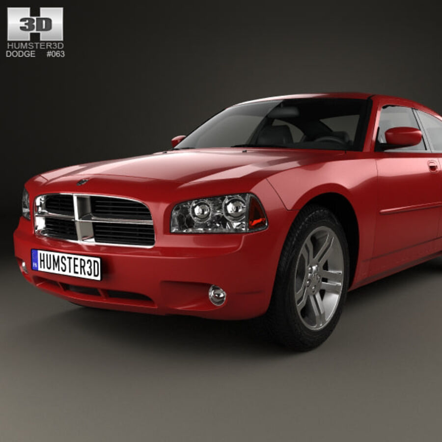 Dodge Charger (LX) 2006 royalty-free 3d model - Preview no. 6