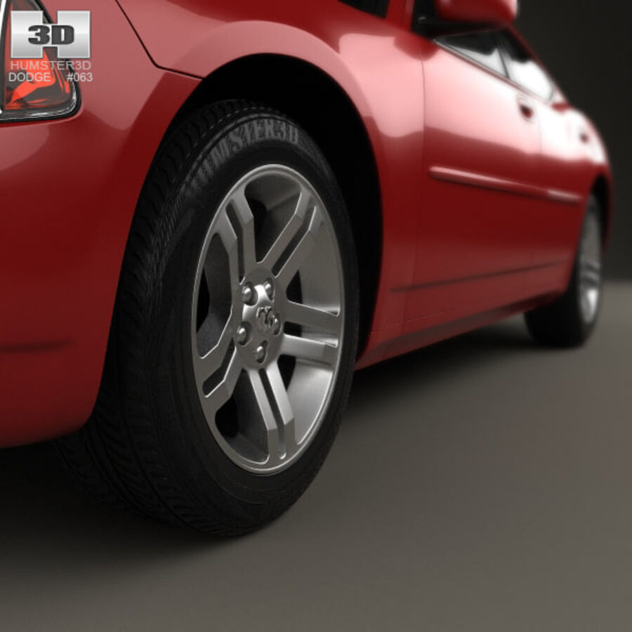 Dodge Charger (LX) 2006 royalty-free 3d model - Preview no. 8