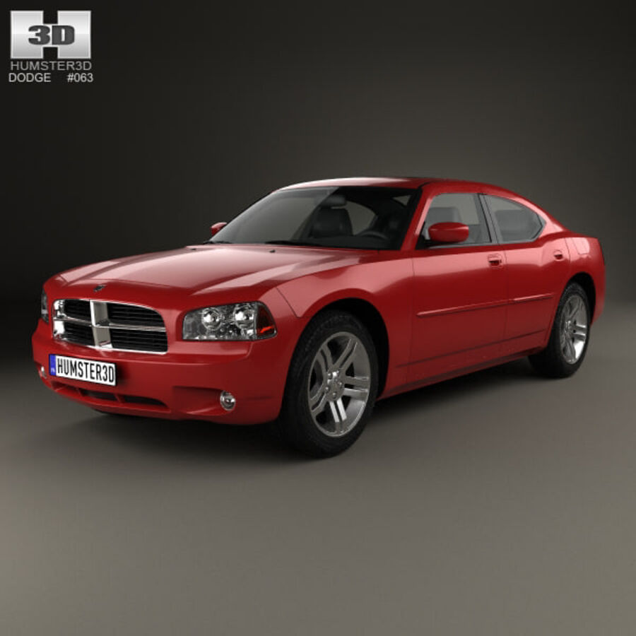 Dodge Charger (LX) 2006 royalty-free 3d model - Preview no. 1