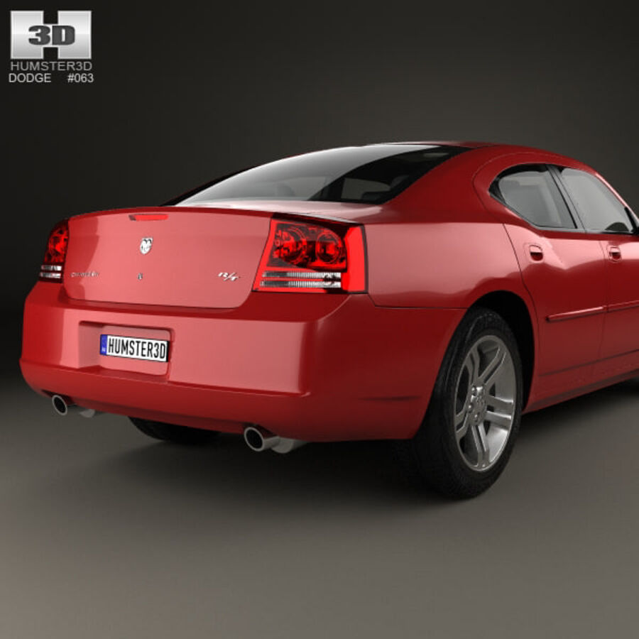 Dodge Charger (LX) 2006 royalty-free 3d model - Preview no. 7