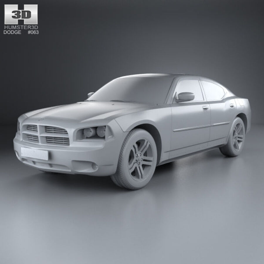 Dodge Charger (LX) 2006 royalty-free 3d model - Preview no. 11