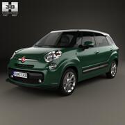 Fiat 500L (330) Życie 2013 3d model