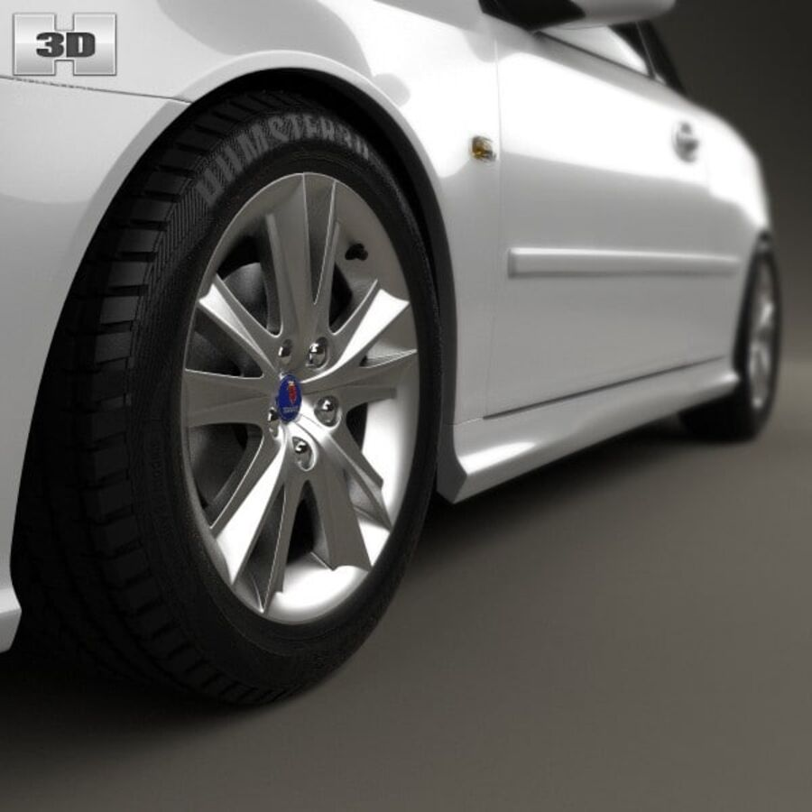 Saab 9-3 cabriolet 2008 royalty-free 3d model - Preview no. 8