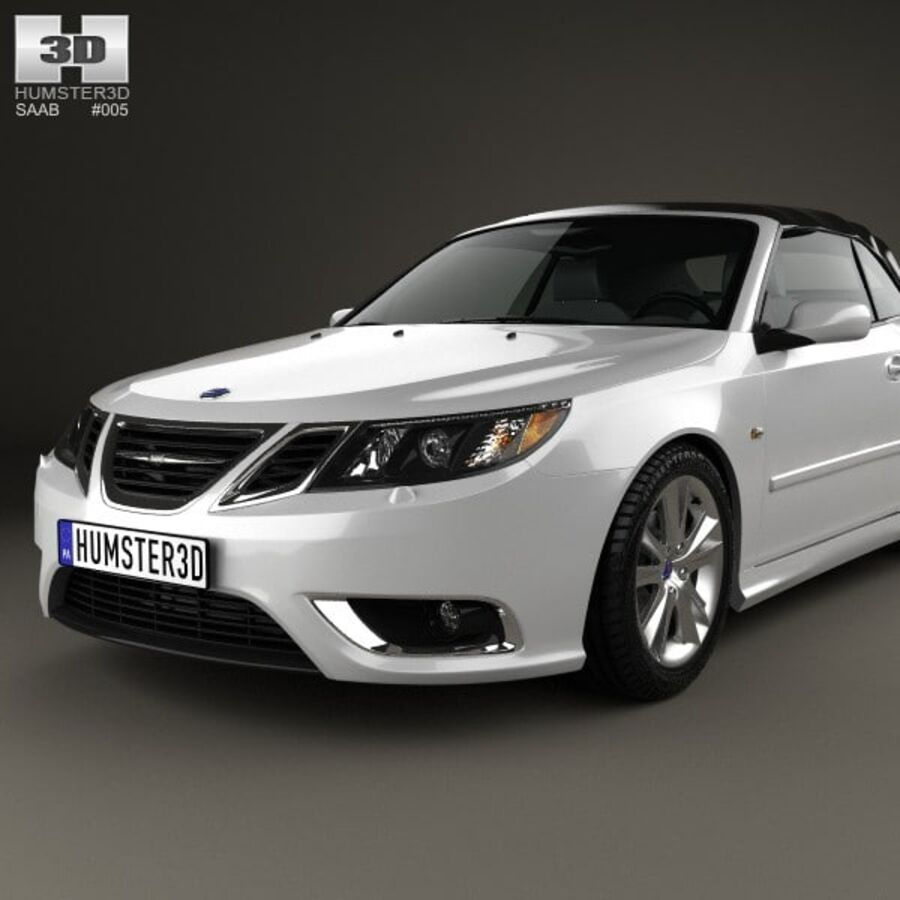 Saab 9-3 cabriolet 2008 royalty-free 3d model - Preview no. 6