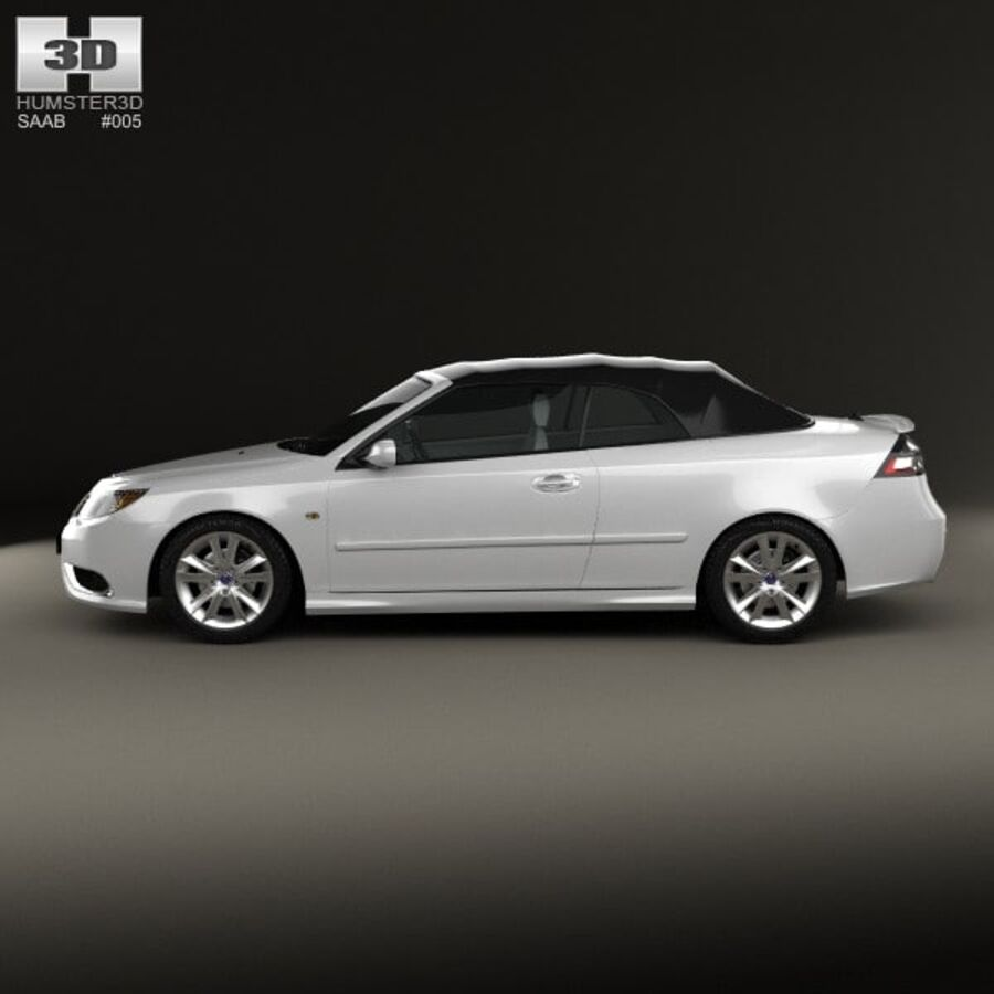 Saab 9-3 cabriolet 2008 royalty-free 3d model - Preview no. 5