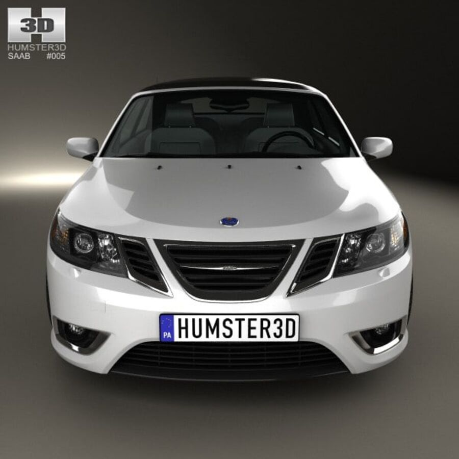 Saab 9-3 cabriolet 2008 royalty-free 3d model - Preview no. 10