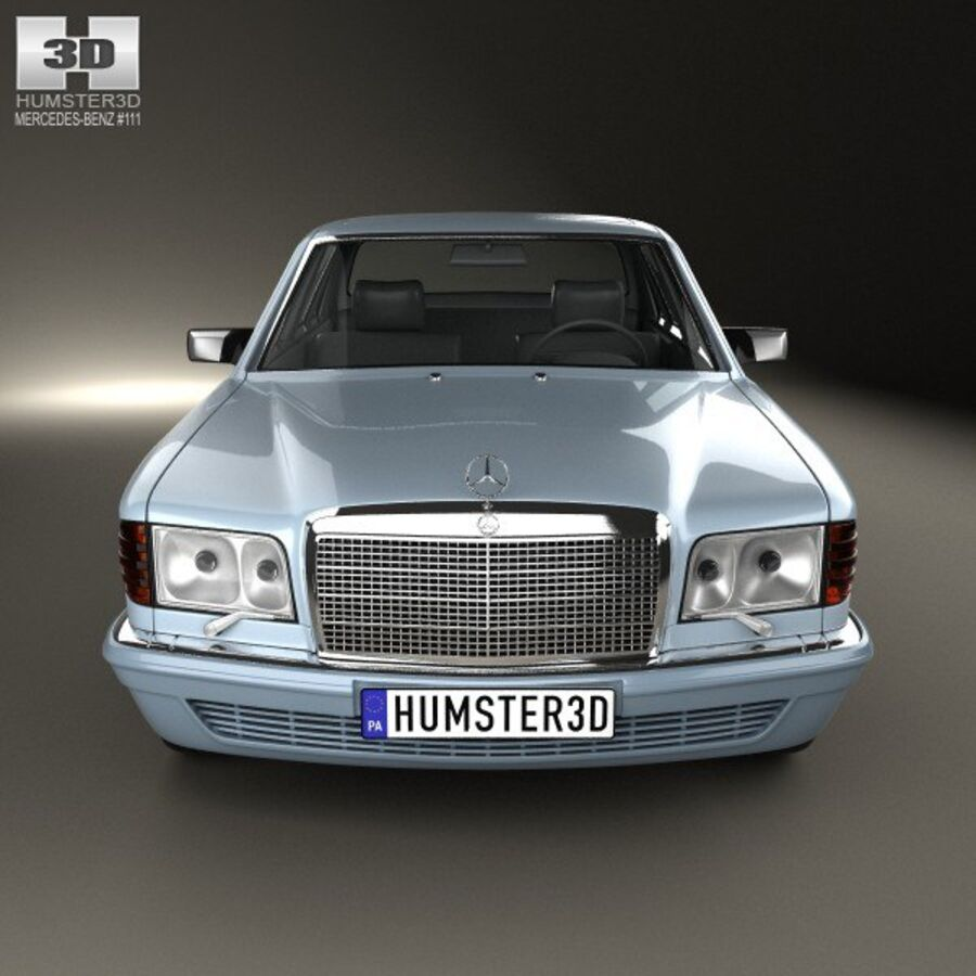 Mercedes-Benz S-Class (W126) 1979 royalty-free 3d model - Preview no. 10