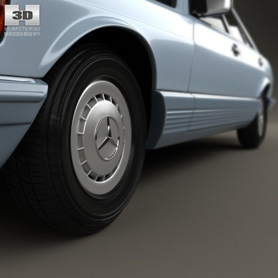 Mercedes-Benz S-Class (W126) 1979 royalty-free 3d model - Preview no. 8