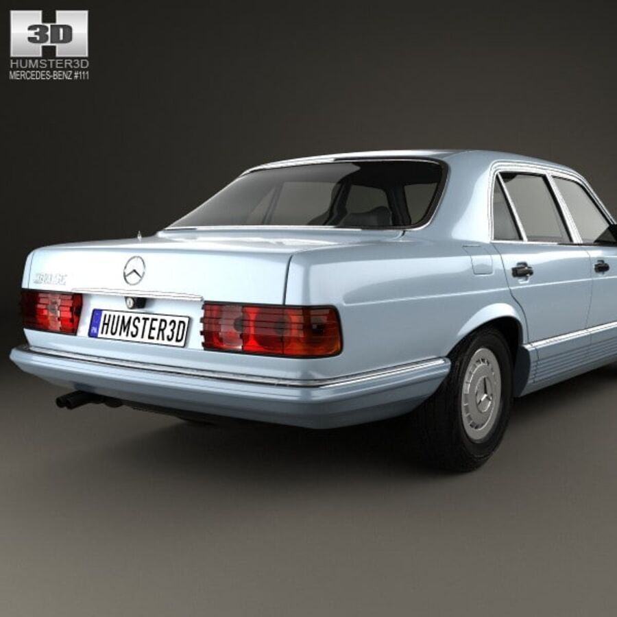 Mercedes-Benz S-Class (W126) 1979 royalty-free 3d model - Preview no. 7