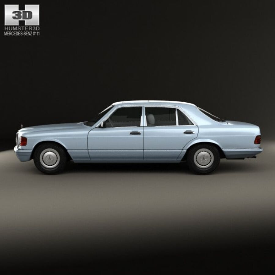 Mercedes-Benz S-Class (W126) 1979 royalty-free 3d model - Preview no. 5