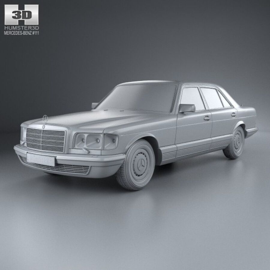 Mercedes-Benz S-Class (W126) 1979 royalty-free 3d model - Preview no. 11