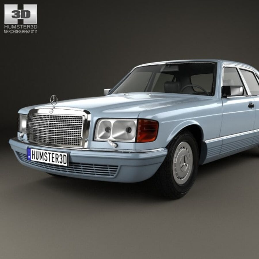 Mercedes-Benz S-Class (W126) 1979 royalty-free 3d model - Preview no. 6