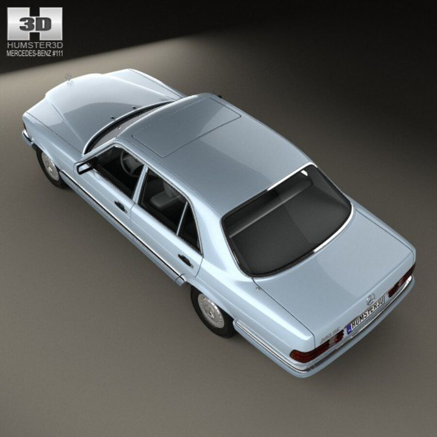 Mercedes-Benz S-Class (W126) 1979 royalty-free 3d model - Preview no. 9