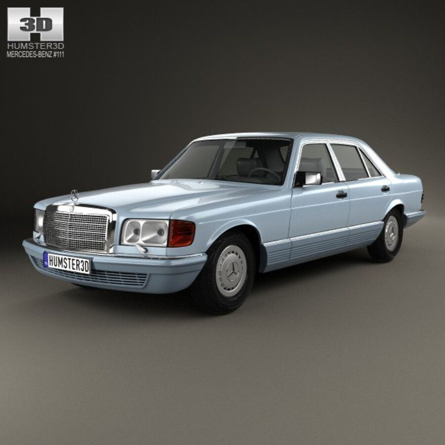 Mercedes-Benz S-Class (W126) 1979 royalty-free 3d model - Preview no. 1