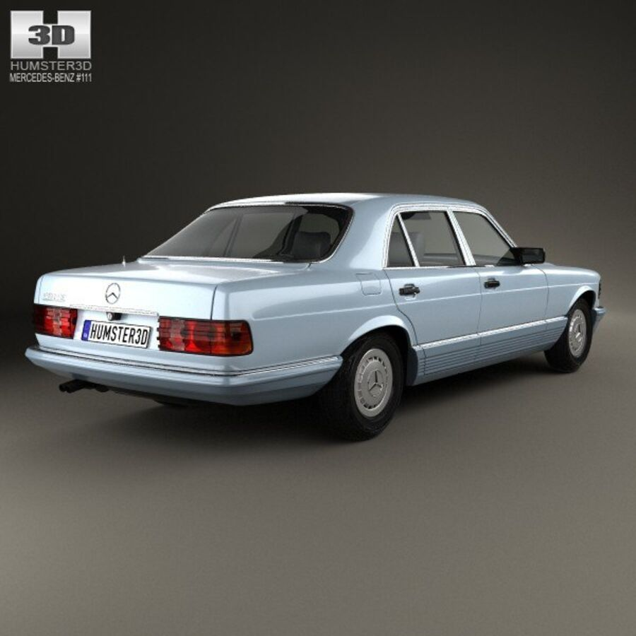 Mercedes-Benz S-Class (W126) 1979 royalty-free 3d model - Preview no. 2