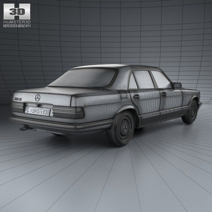 Mercedes-Benz S-Class (W126) 1979 royalty-free 3d model - Preview no. 4