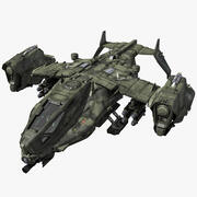 SF_Heavy Military Dropship 3d model