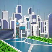 Future City Day 3d model