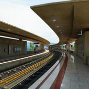 Tren İstasyonu -Peak Mountain 3d model