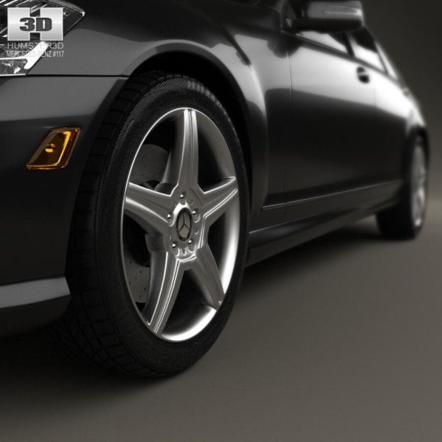 Mercedes-Benz S-Class (W221) with HQ interior 2013 royalty-free 3d model - Preview no. 8