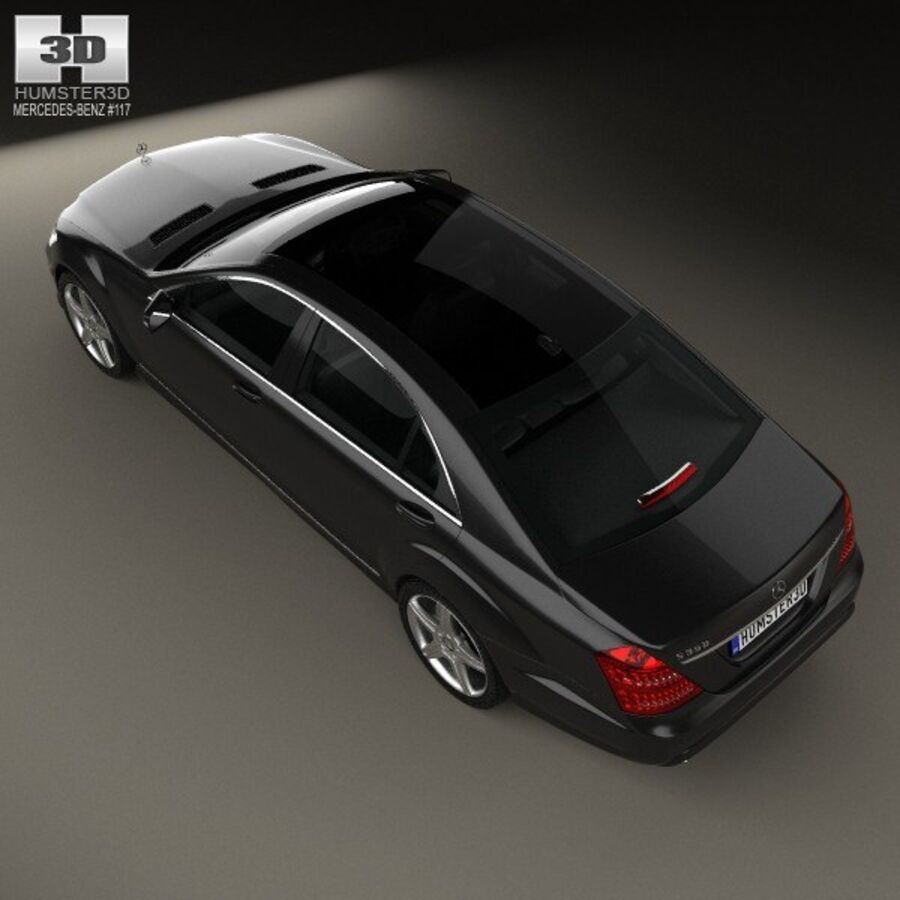Mercedes-Benz S-Class (W221) with HQ interior 2013 royalty-free 3d model - Preview no. 9