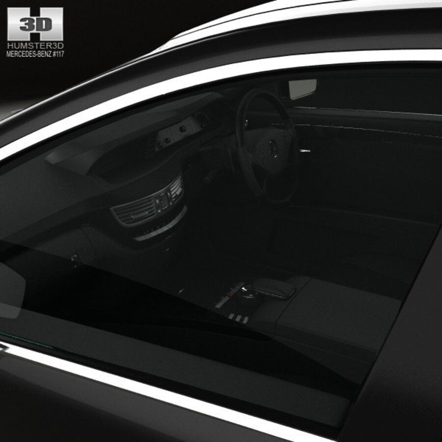 Mercedes-Benz S-Class (W221) with HQ interior 2013 royalty-free 3d model - Preview no. 15