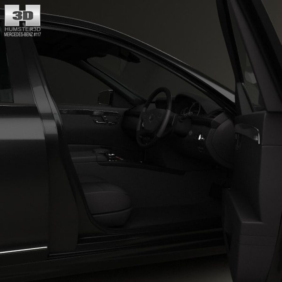 Mercedes-Benz S-Class (W221) with HQ interior 2013 royalty-free 3d model - Preview no. 13