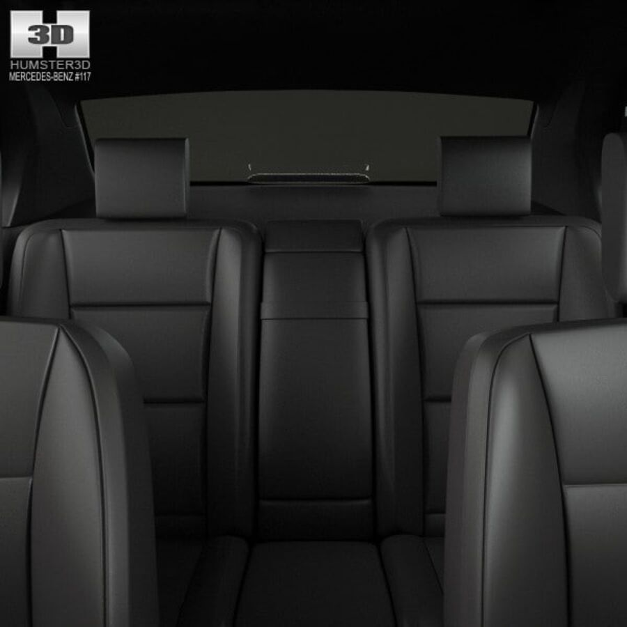 Mercedes-Benz S-Class (W221) with HQ interior 2013 royalty-free 3d model - Preview no. 16