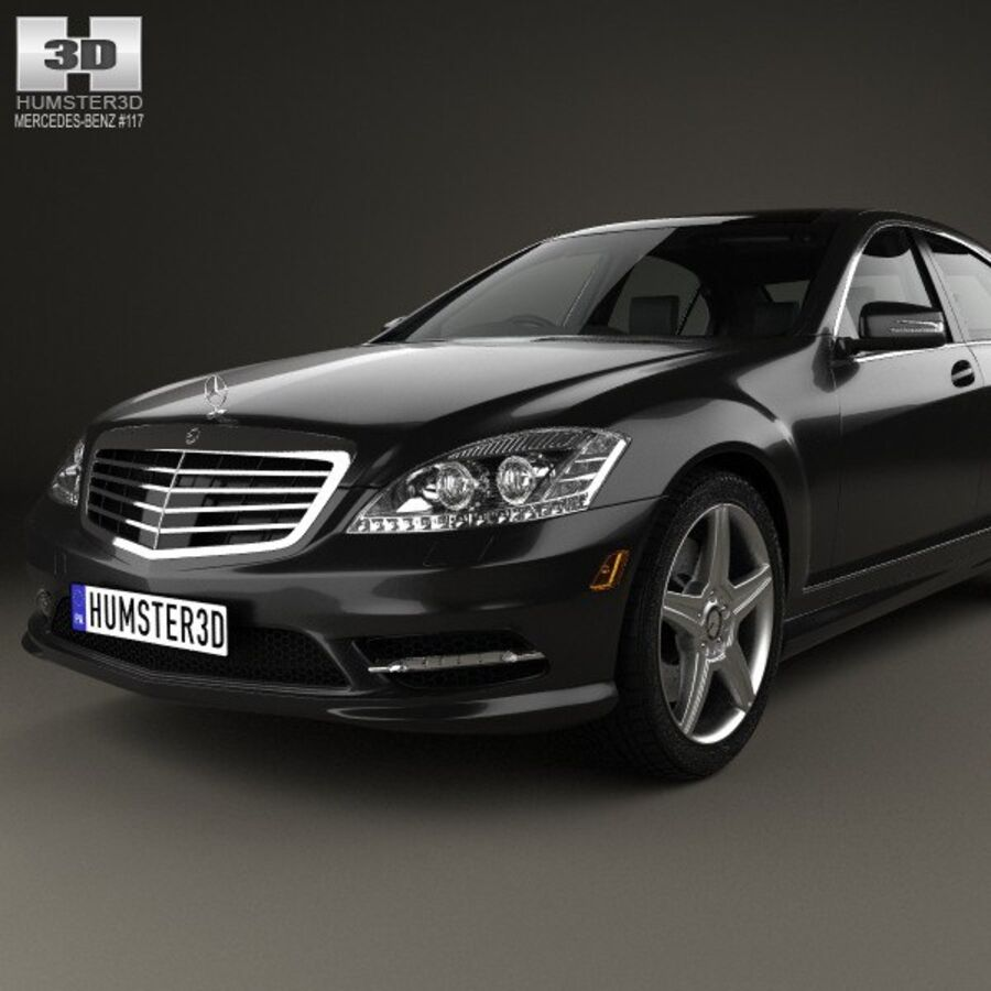 Mercedes-Benz S-Class (W221) with HQ interior 2013 royalty-free 3d model - Preview no. 6