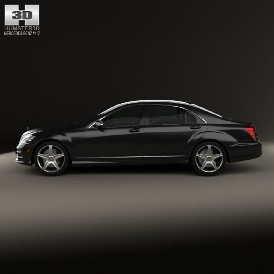 Mercedes-Benz S-Class (W221) with HQ interior 2013 royalty-free 3d model - Preview no. 5