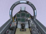 F-18E cockpit + fr. fuselage. 3d model