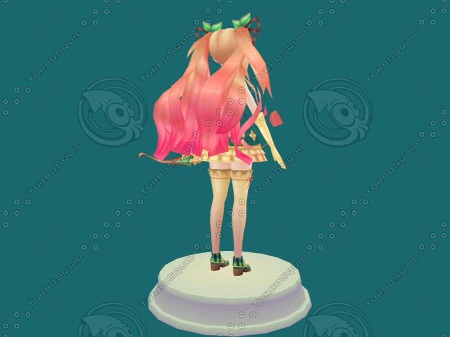 Anime Girl royalty-free 3d model - Preview no. 11