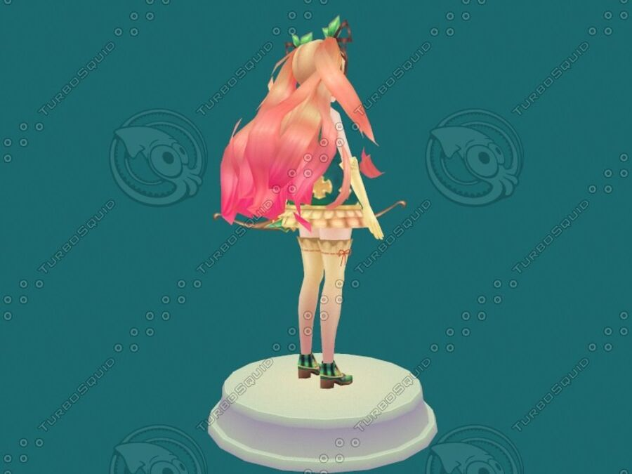 Anime Girl royalty-free 3d model - Preview no. 12
