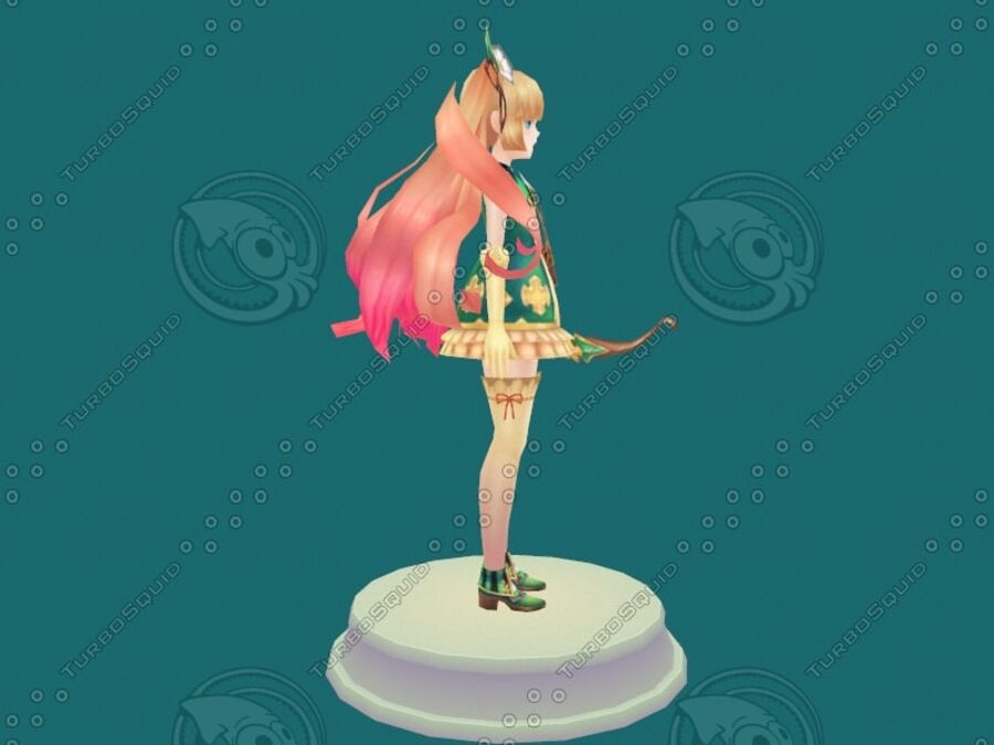 Anime Girl royalty-free 3d model - Preview no. 14