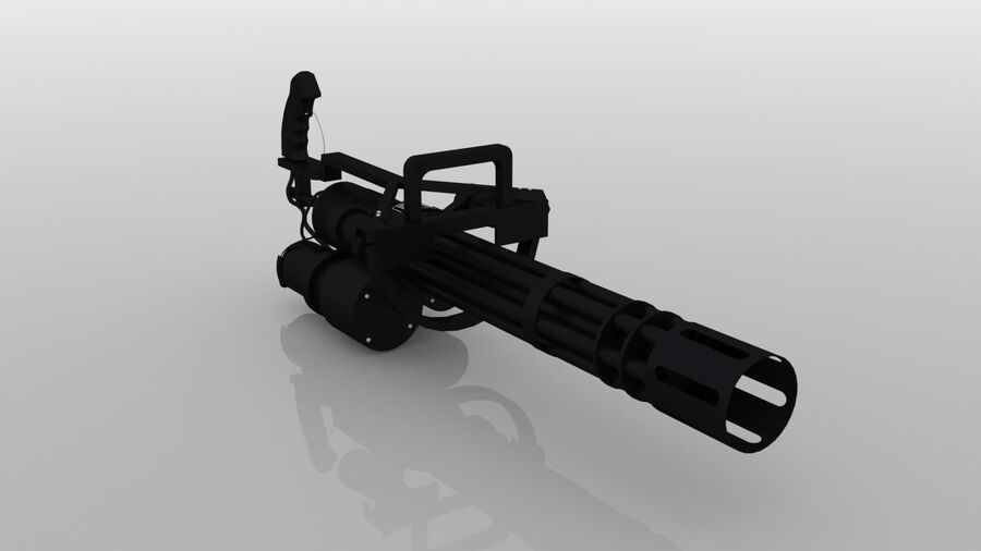 Classic M134 Minigun royalty-free 3d model - Preview no. 3