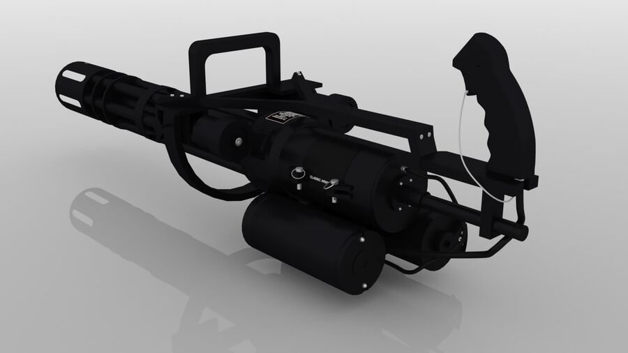 Classic M134 Minigun royalty-free 3d model - Preview no. 6