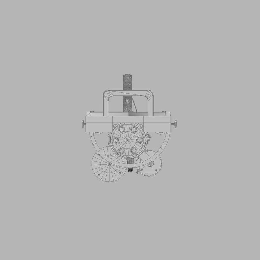 Classic M134 Minigun royalty-free 3d model - Preview no. 19