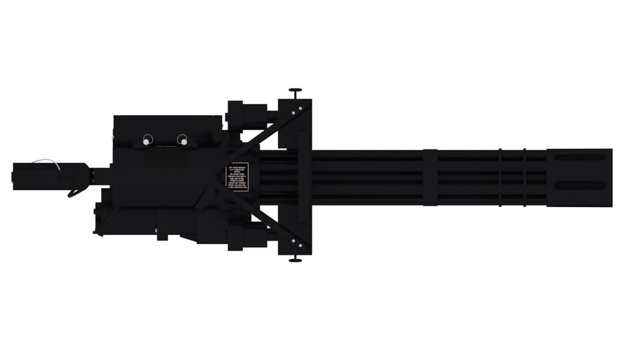 Classic M134 Minigun royalty-free 3d model - Preview no. 12